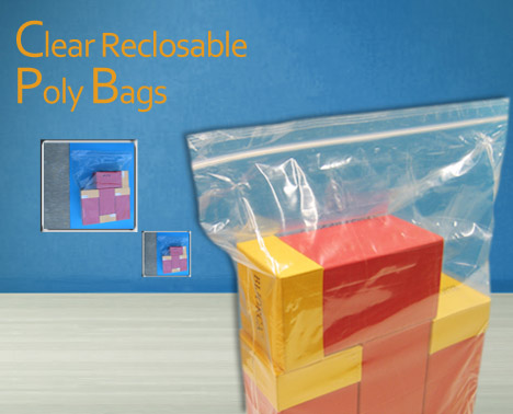 Clear Reclosable Poly Bags